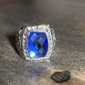 Other - Men's Blue Stone Ring Size 8.5